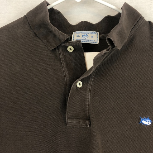 Southern Tide Other - SOUTHERN TIDE | Brown Essential Skipjack Polo -XL